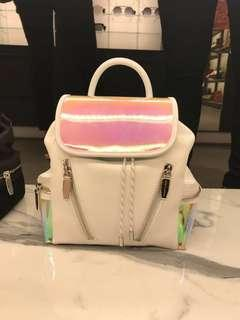 Charles & Keith White Holographic Backpack