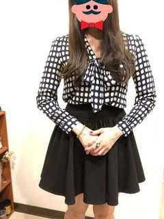 🚚 黑色氣質實搭縮緊小圓裙