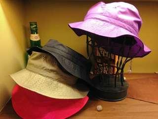 ◈CA4LA古著便攜式可折疊漁夫帽(黑)