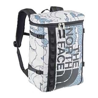 ( Last 2 Pieces ) The North Face Fuse Box FuseBox Backpack/Haversack  DUSTY BLUE AROUND THE WORLD