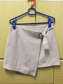 🚚 粉色不對稱綁帶褲裙