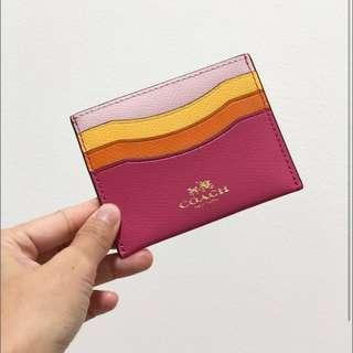 COACH F65527 Colour Block Rainbow Card Case