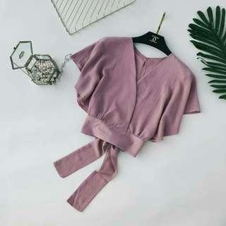 V Neck Crop blouses