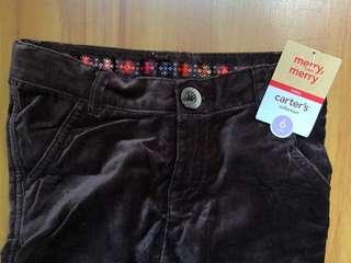 Carters brown velvet pants