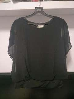 NEW!  Black Butterfly Top