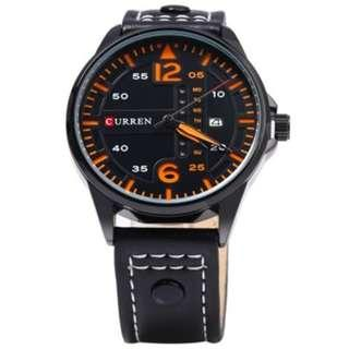 Fashionable Watch with Date and Day Display