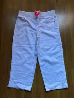 Carters Girls White Capri Pants