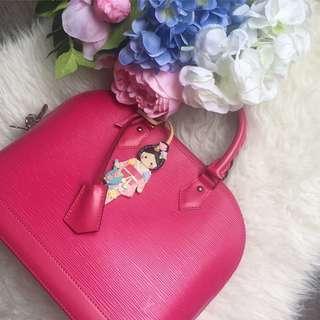 💕Superb Deal!💕 Full Set! Very Good Condition Louis Vuitton LV Alma PM in Fuschia Epi Leather