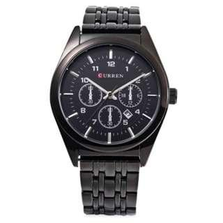 Stylistic Watch with Date Display