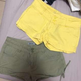 🚚 💛💚Roots黃/綠休閒短褲
