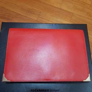 Alexander Wang Prisma Clutch - Red Black