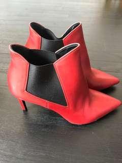 0ad1deb5b2d Saint Laurent Red Ankle Boots