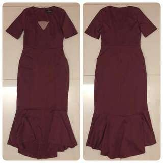 Doublewoot  Dress (Burgundy)