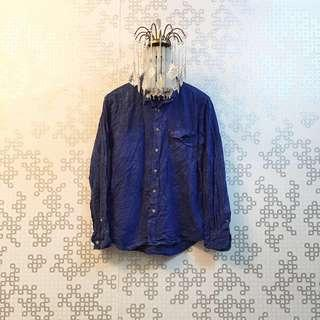 Boyfriend Shirt - Electric Blue