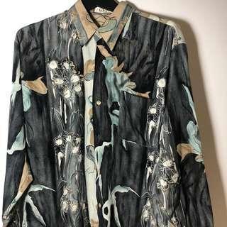 古著 復古 花襯衫