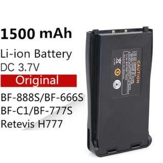 🚚 Singapore stock, BF-888s Battery BL-1 Baofeng for BF-666S Retevis H777 BF-777S Battery BF-C1 Baofeng 888
