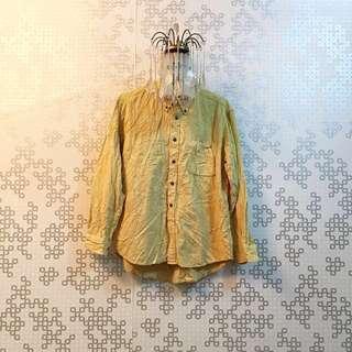 Boyfriend Shirt - Light Yellow