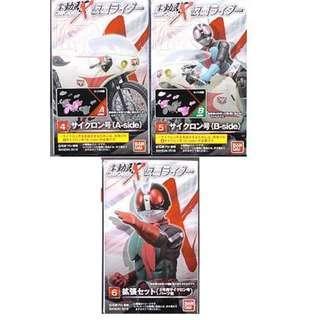 幪面超人 掌動 驅 Rider Shodo X 1 01 4 5 A B side 電單車 6 擴張 set 共3盒
