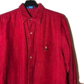 古著 復古 燈芯絨 襯衫