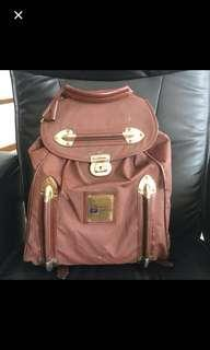 💜 Vintage Piero Guidi Lineabold Brown Large Backpack