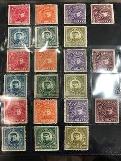 Very Rare China Stamp 1921-1949  ,华北大毛像7全上品!三套一起!