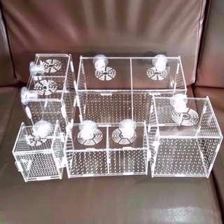 SALES!! Acrylic Divider / Breeder Box / Isolate Box for Aquarium Fish Tank Reptile