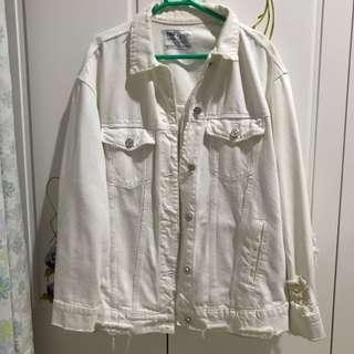 White (Putih) Denim Jacket Zara TRF