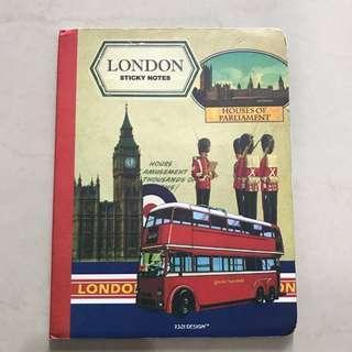 sticky notes london (8 macam)