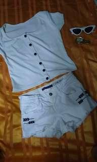 Blouse and short