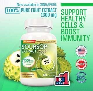 🚚 Evolutionary Slimming USA Soursop Extract Plus+ 🍐Health and Immunity Supplement