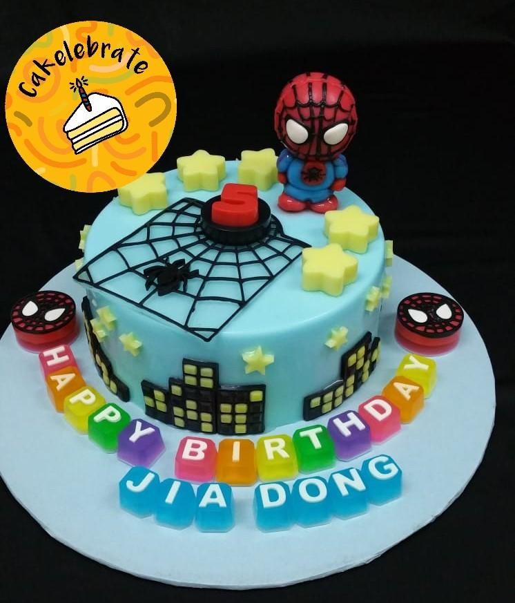 Amazing 7 Spider Man Customised Jelly Birthday Cake Food Drinks Baked Funny Birthday Cards Online Elaedamsfinfo