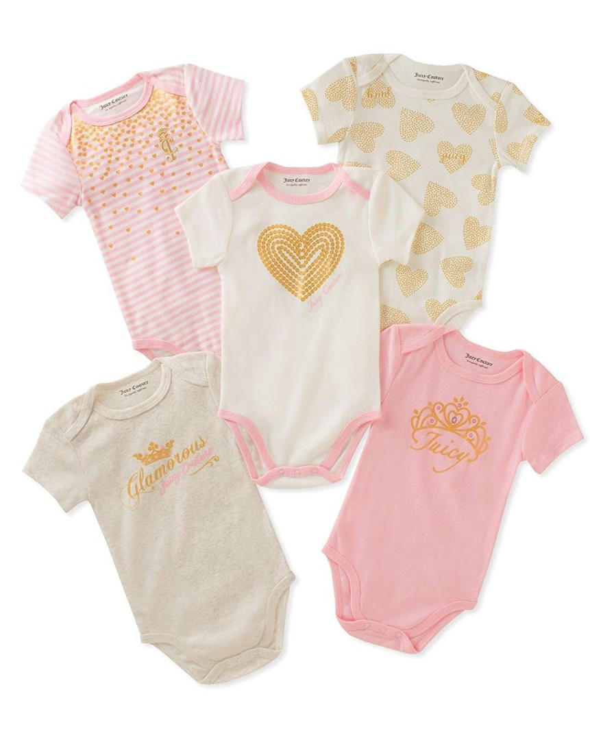 1ce368e4f 6M* Brand New Juicy Couture 5-Pack Short Sleeve Bodysuits For Baby ...