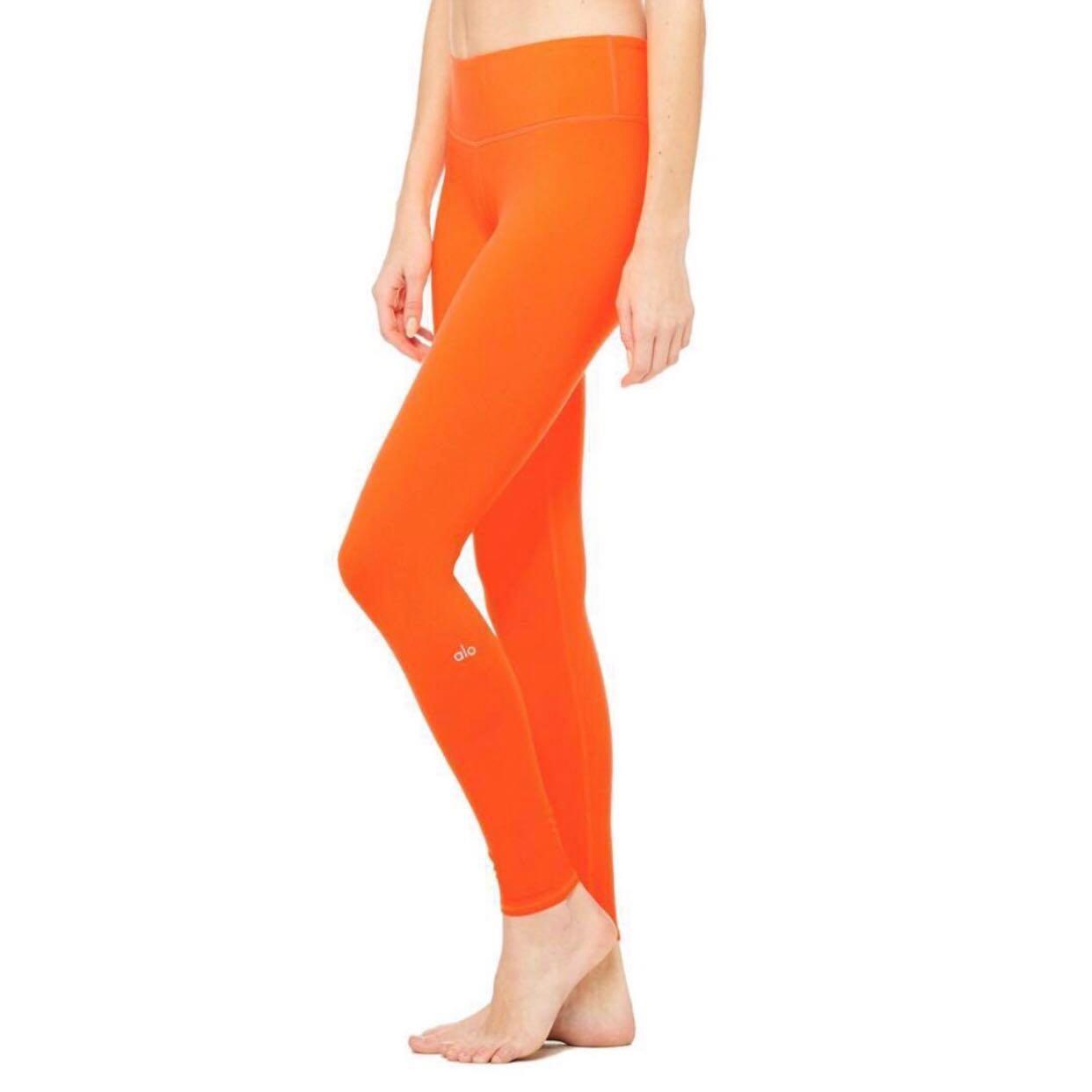 75d07d4d9b Alo Yoga Airbrush Legging - Neon Lily (glossy), Sports, Sports ...