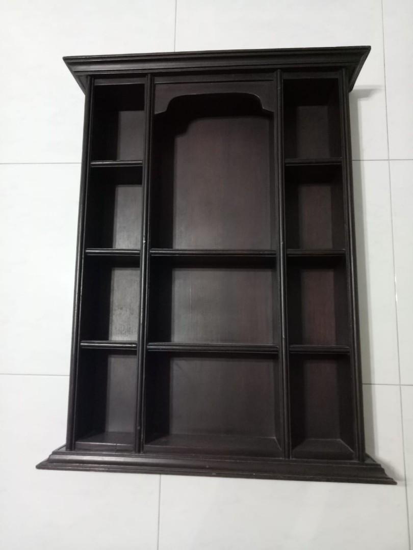 Antique bali wall display shelf