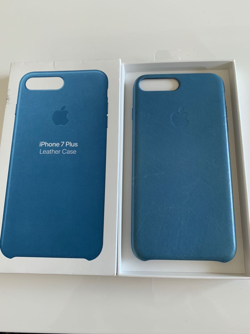 the best attitude 39edc a2df0 Apple leather case for iPhone 7plus sea blue