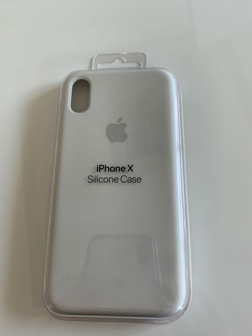 buy online 35738 0dd6e Apple silicone white Color for iPhone X