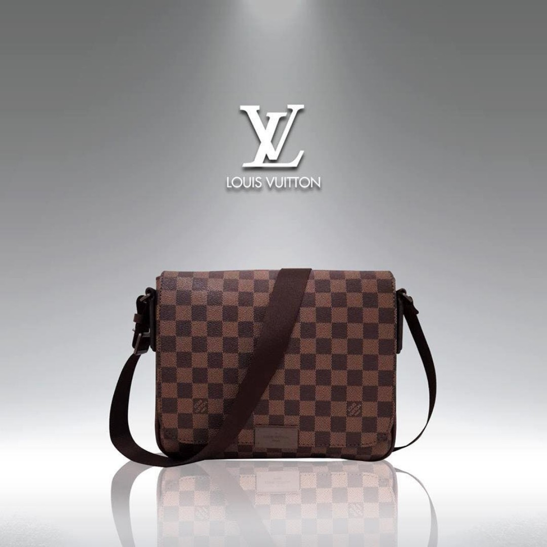 45ae683272e0 Authentic Original Men s Louis Vuitton Brooklyn Damier Ebene Messenger Bag  Cross Body Bag Sling Bag Laptop Bag Unisex Bag