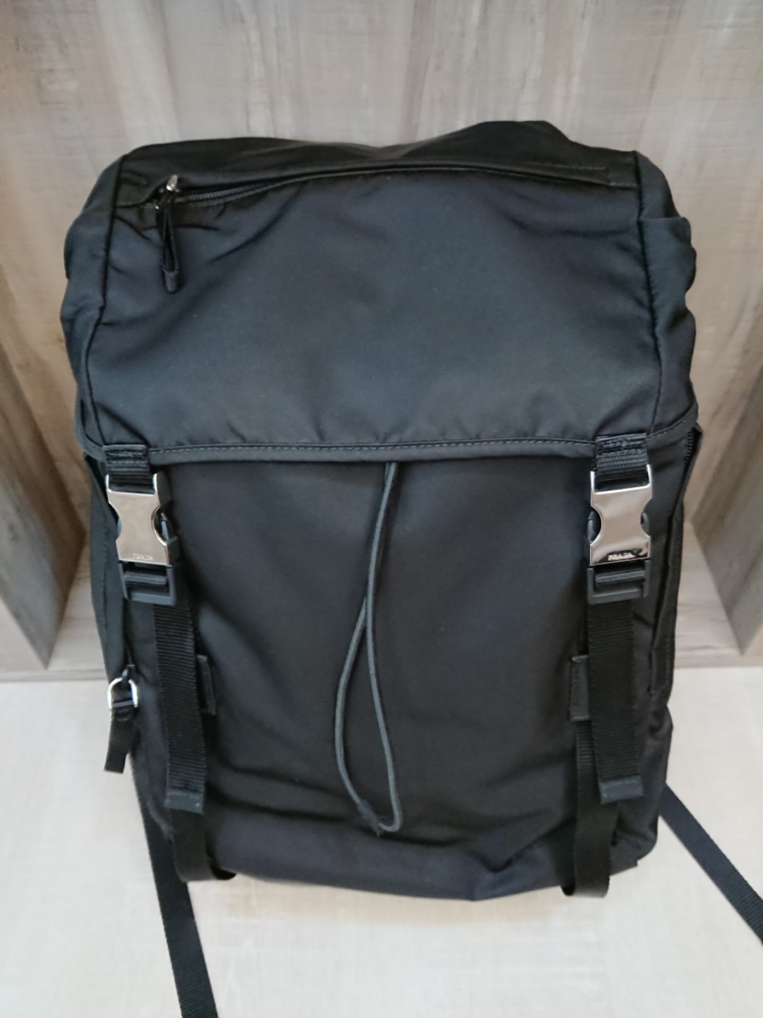 5ac5c1140684 ... low price bn prada backpack haversack 2vz062 tessuto montag nero luxury  bags wallets backpacks on carousell