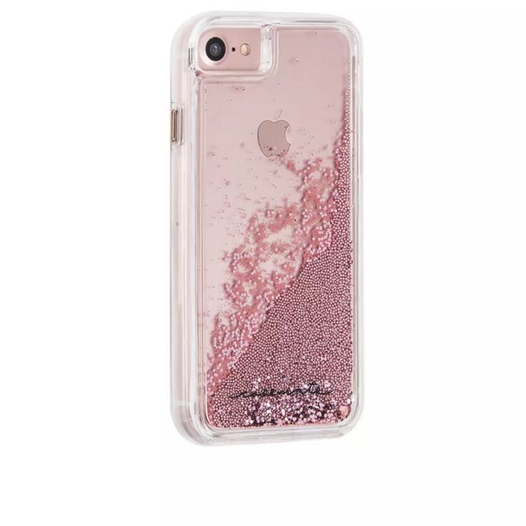 wholesale dealer bc9ff d06fb BNIB Case-Mate Waterfall Pink Glitter for iPhone 8/7/6/6s