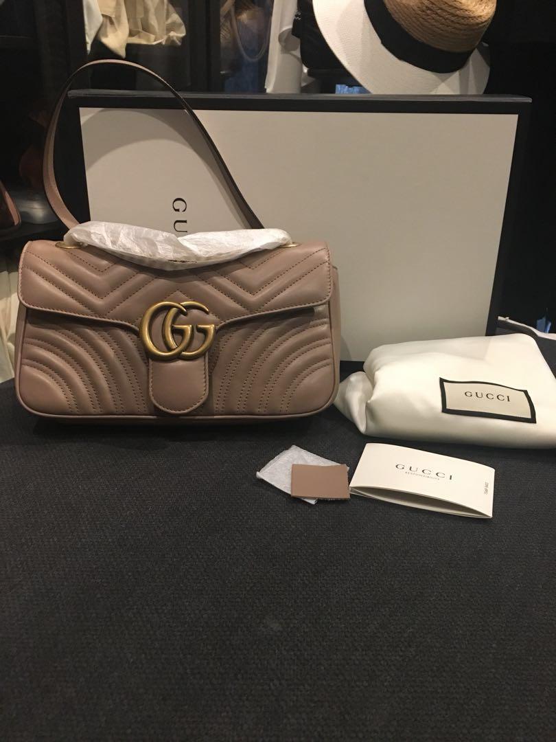 71ab5d4a636 BNIB Gucci Marmont Matelasse Shoulder Bag