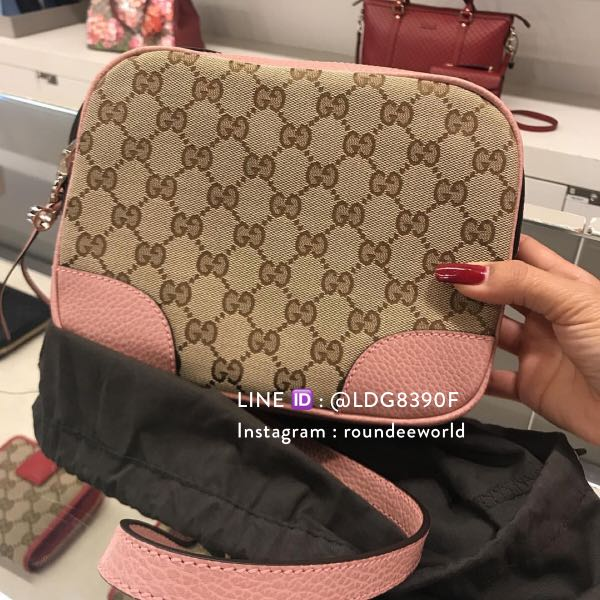 7db06340160 Brand New Gucci Bree Original GG Canvas Messenger Bag in Pink ...