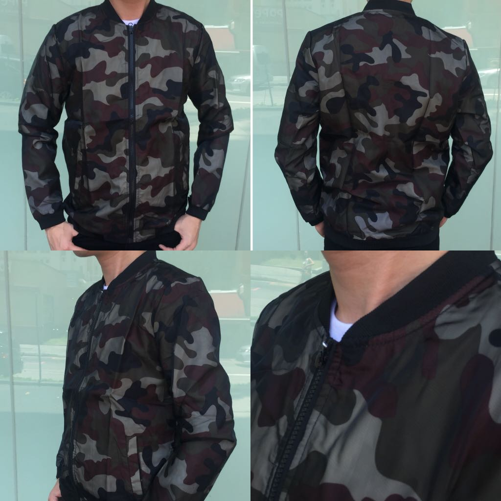 b10ffd287b0b8 Camo Bomber Jacket, Men's Fashion, Clothes, Outerwear on Carousell