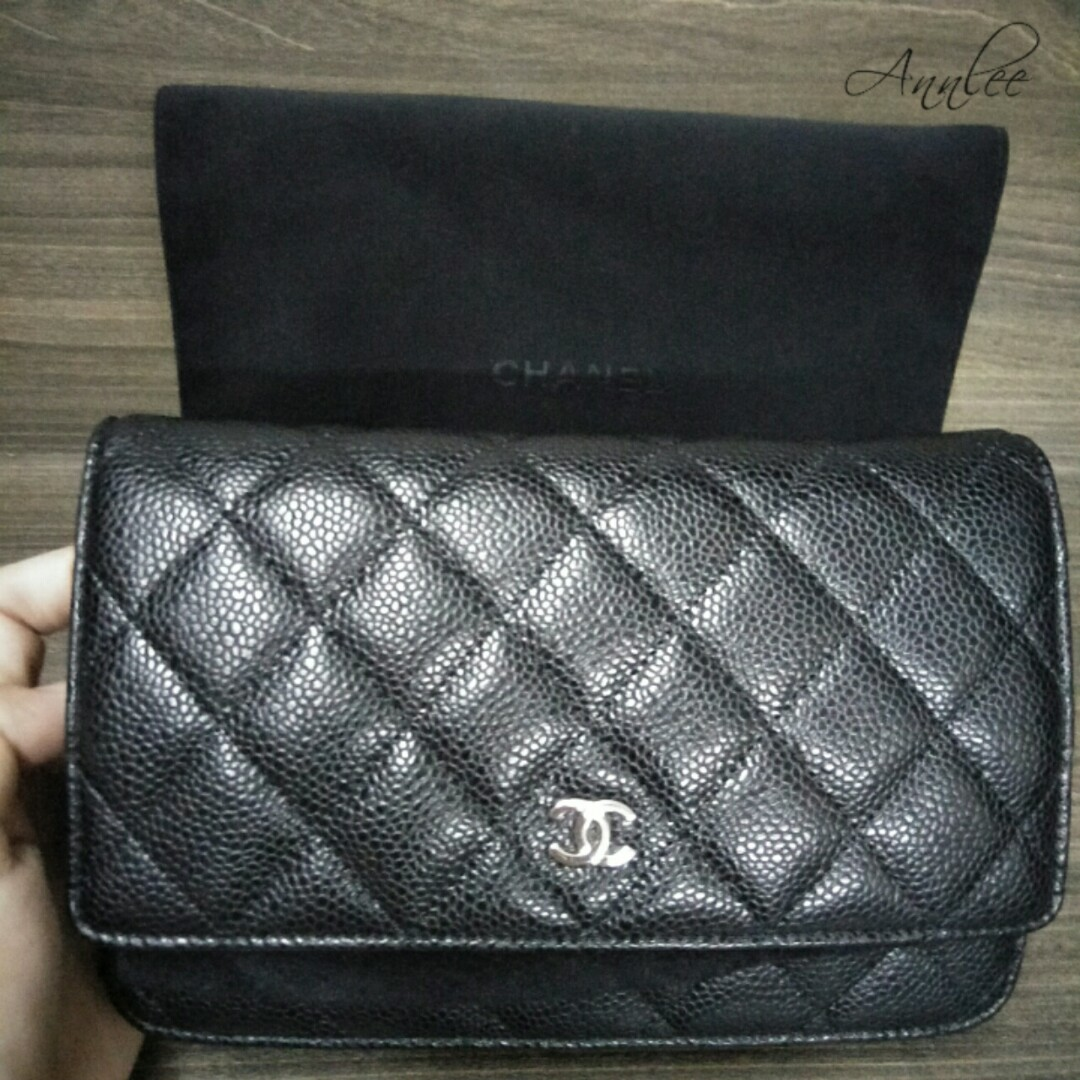 ef55d080f5ba Chanel Wallet On Chain (WOC) Caviar with SHW