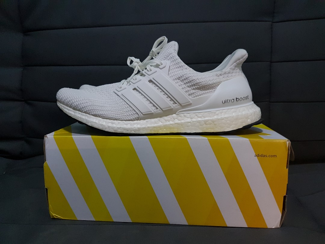 9d0ce2719ab86 ... usa cheapest mint us11 adidas ultra boost 4.0 triple white mens fashion  footwear sneakers on carousell