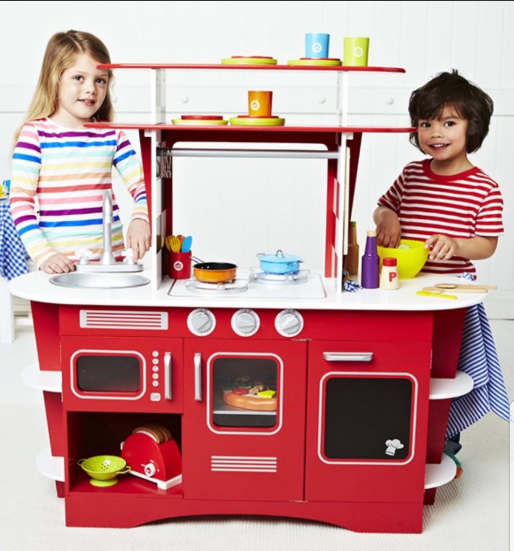 Elc Kitchen Wooden Diner Set Babies Kids Toys Walkers On