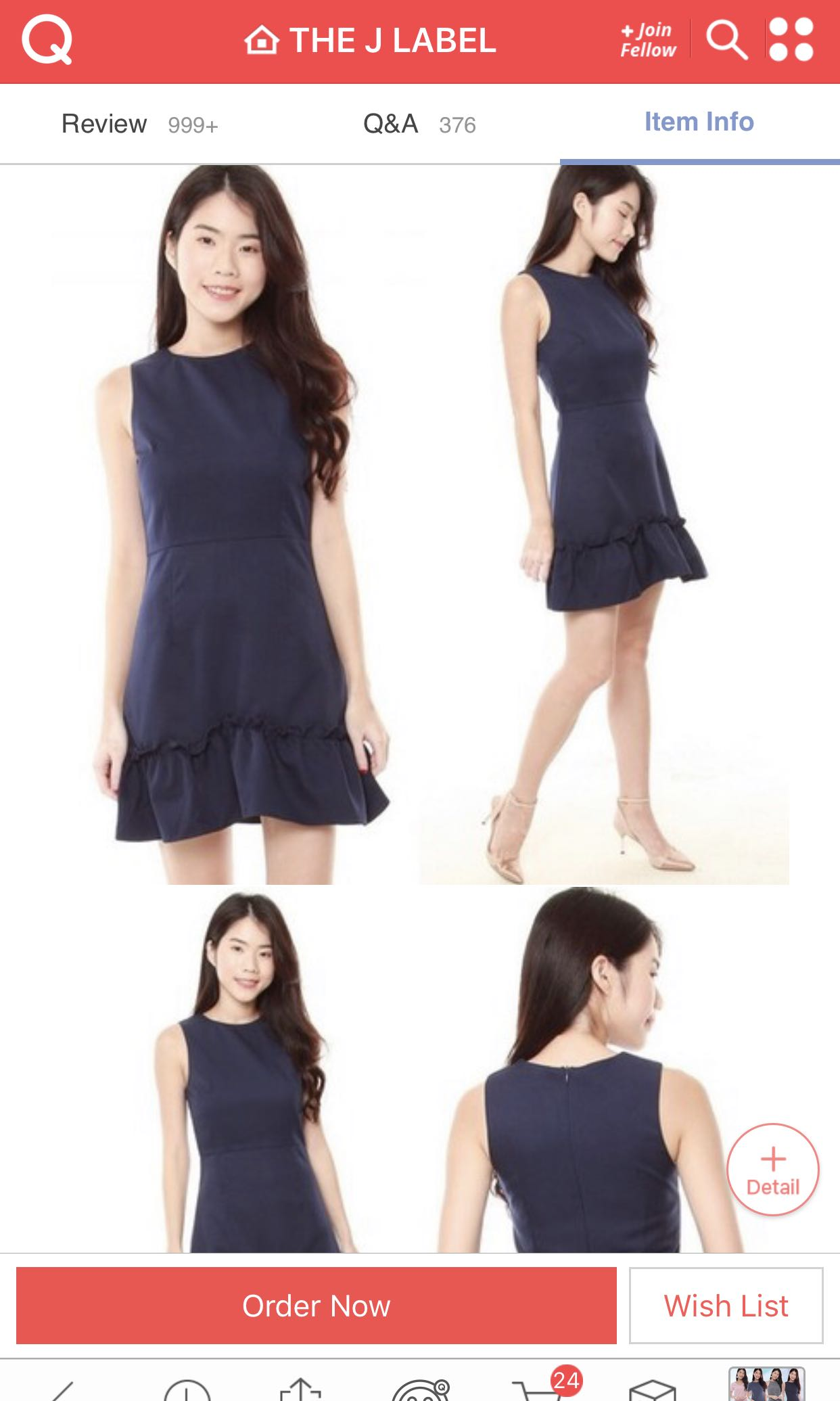 c45dc4fd8f82 Erica Ruffles Dress (Navy), Women's Fashion, Clothes, Dresses & Skirts on  Carousell