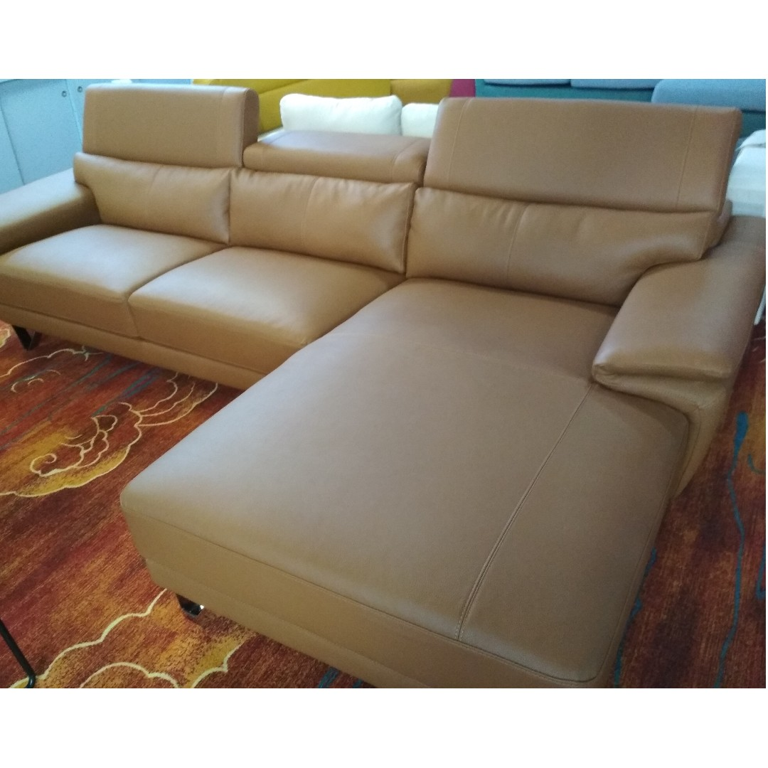 Gemini 3 Seater Chaise Cu Leather Sofa Couch Set Sff215 Furniture