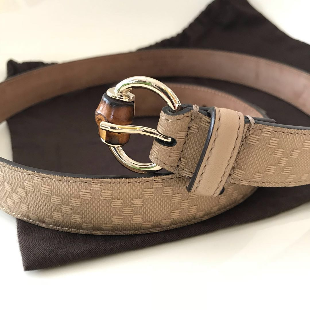 c52d1c58763 Genuine Gucci Women Belt With Bamboo Buckle