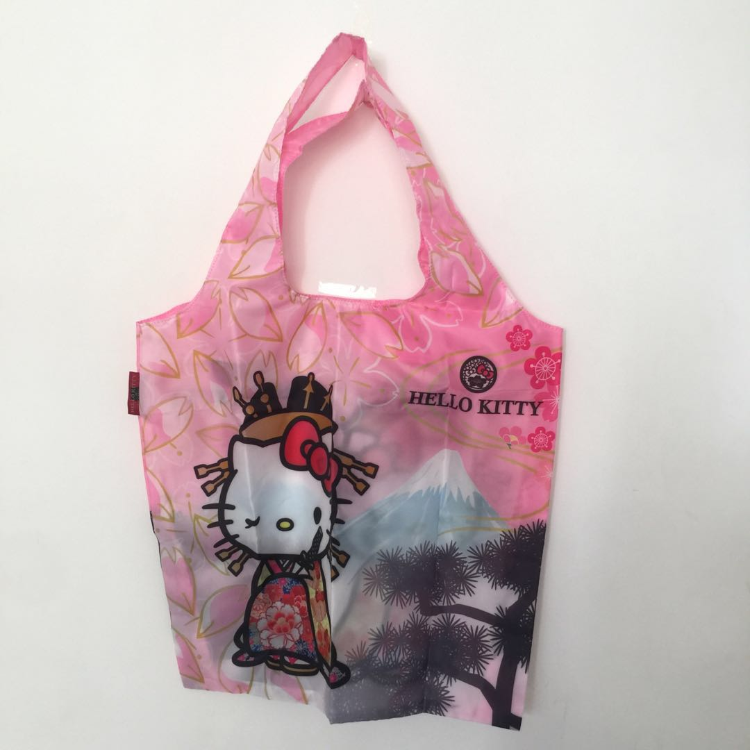 1721482de Hello Kitty Japan Sanrio Folding Eco Bag, Travel, Travel Essentials ...