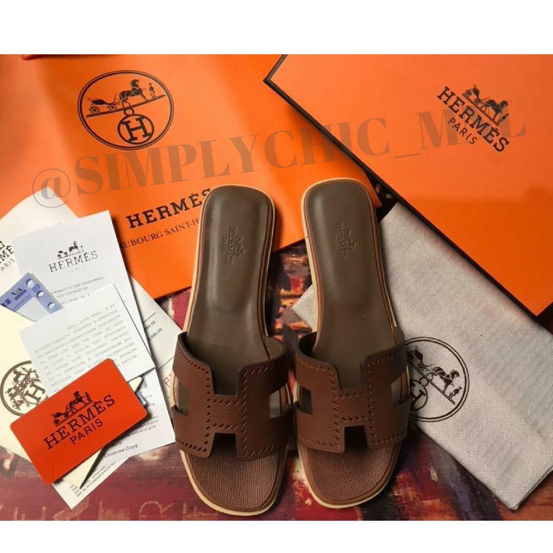 1ce9724284b7 Hermes Oran Sandals